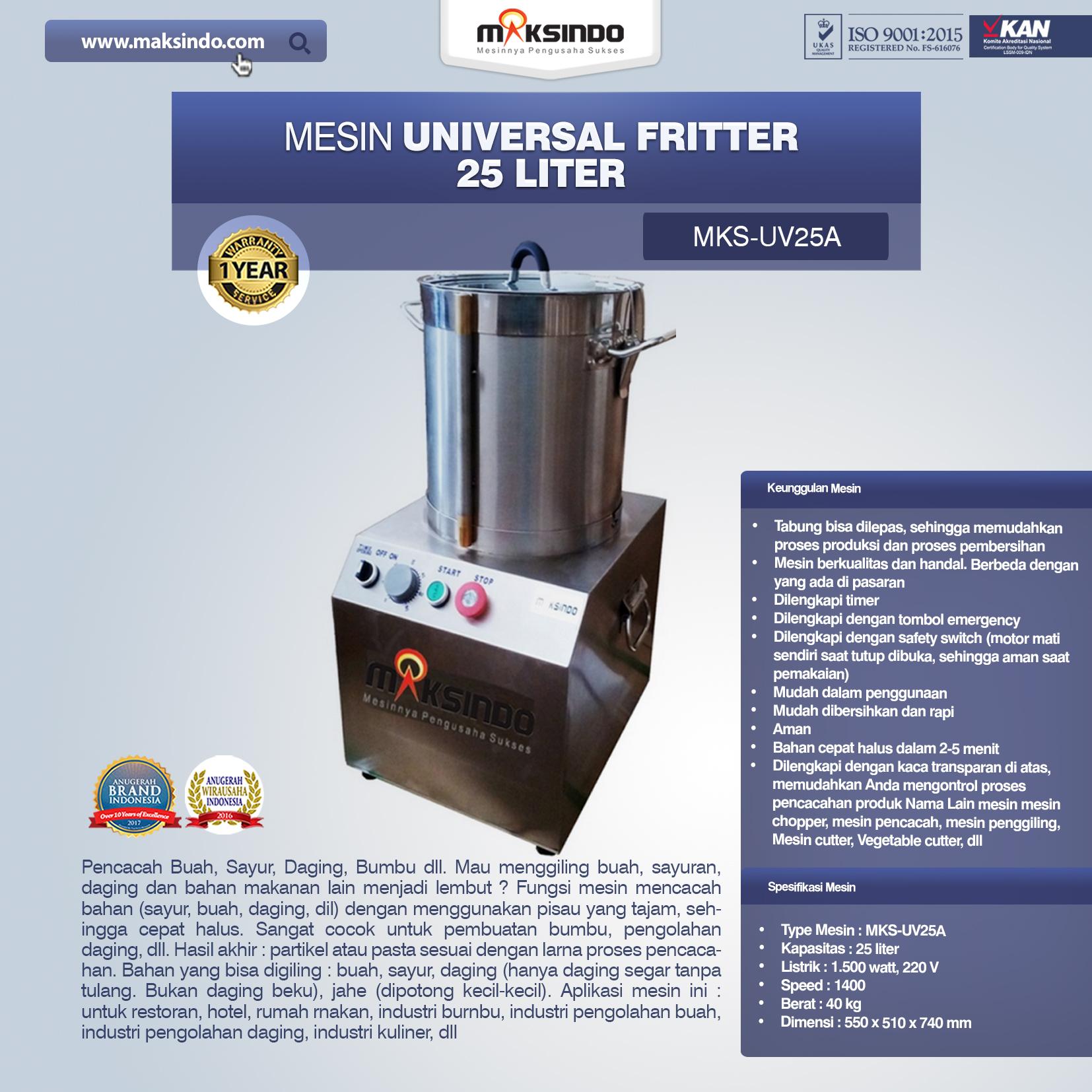 Universal Fritter 25 Liter MKS-UV25A