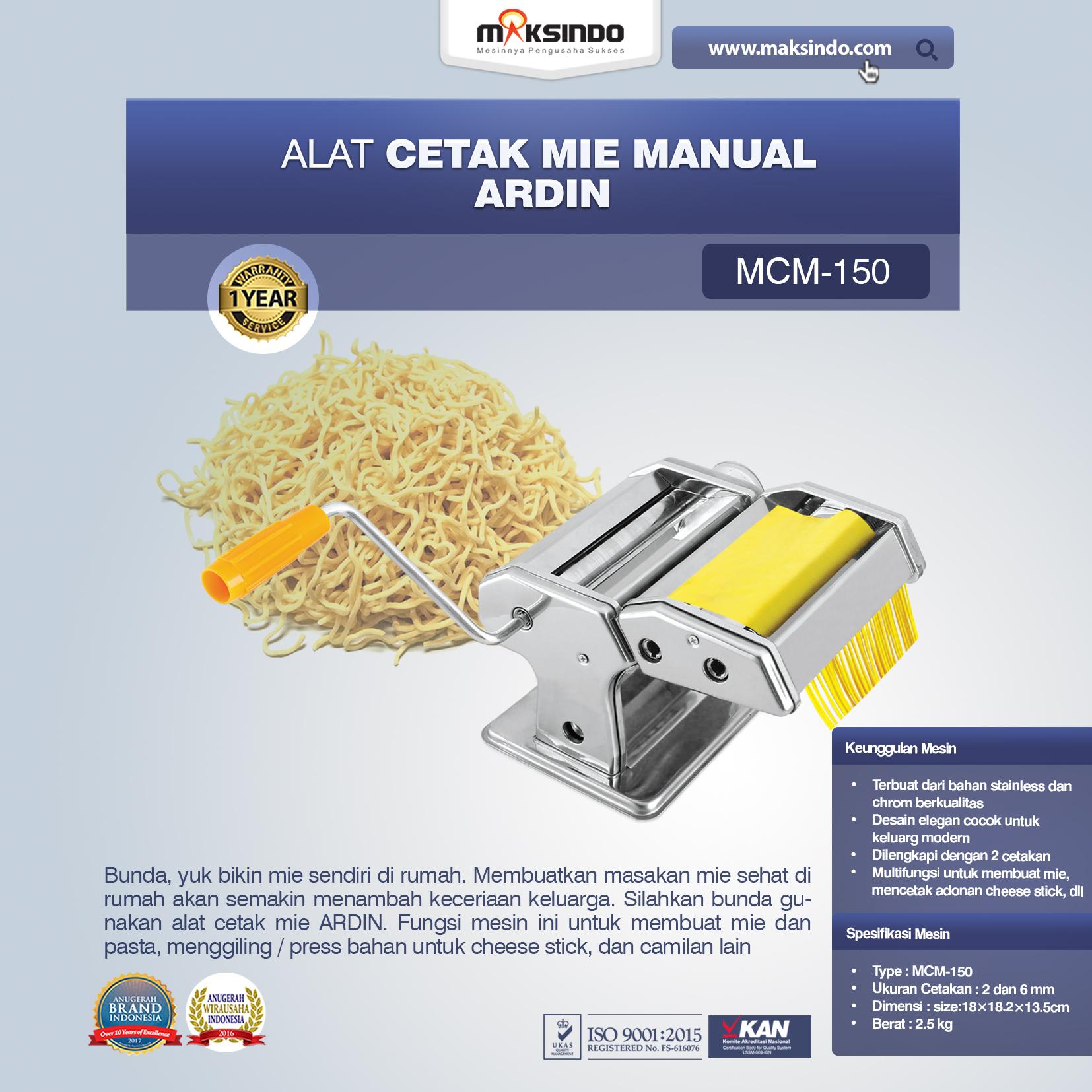 Alat Cetakan Mie Manual Rumah Tangga ARDIN MCM-150