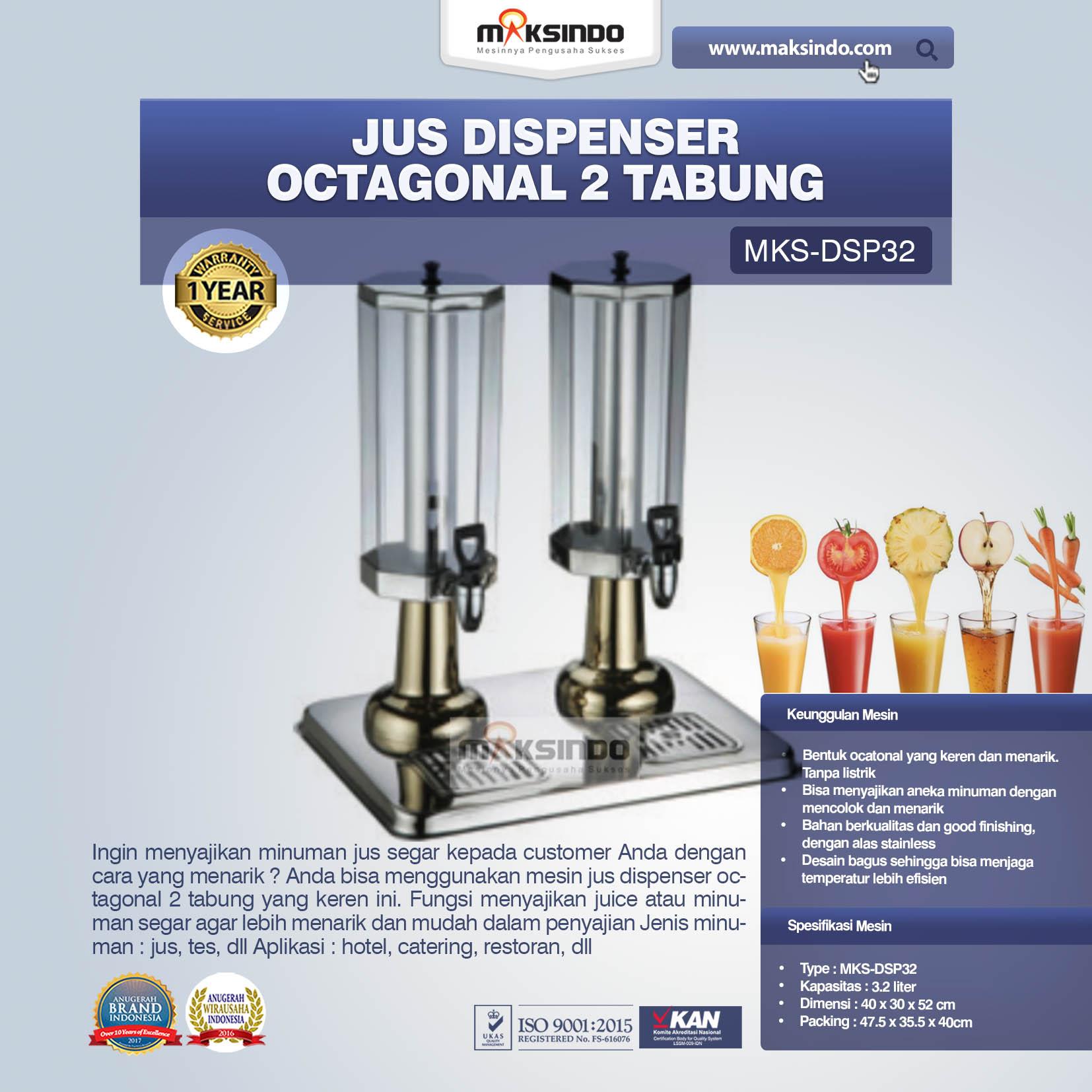 Jus Dispenser Octagonal 2 Tabung DSP32