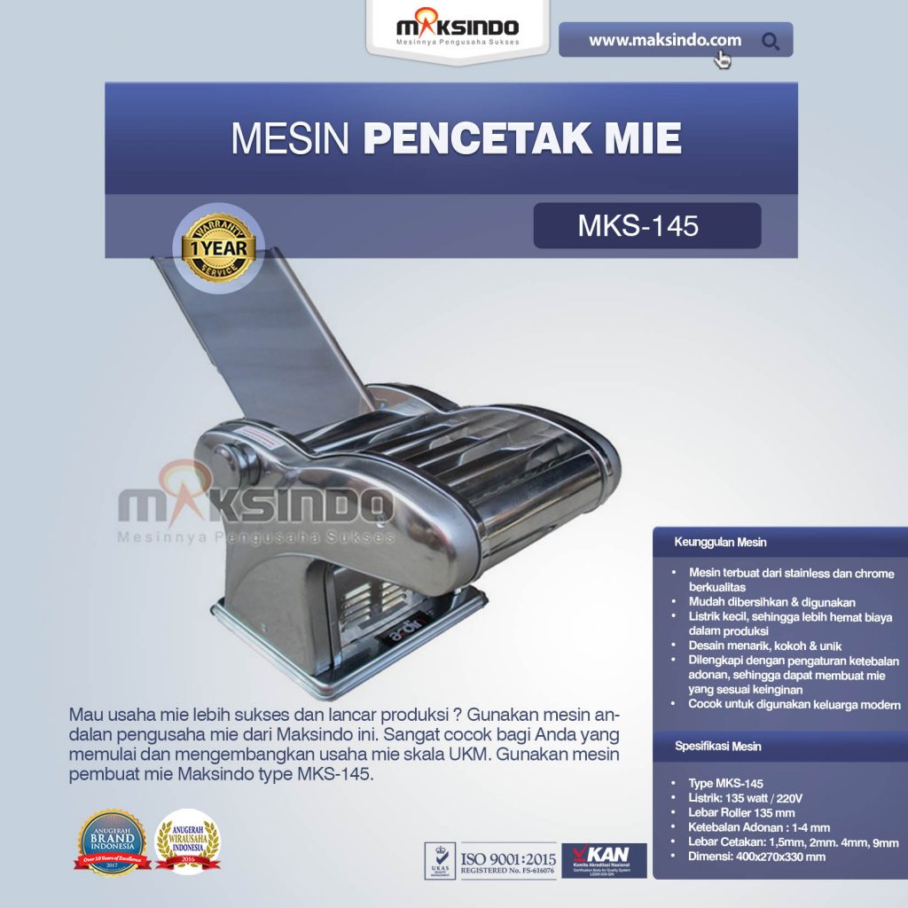 Mesin Cetak Mie MKS-145