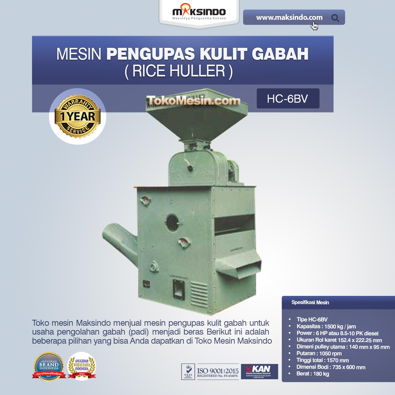 Mesin Pengupas Kulit Gabah (Rice Huller) HC-6BV