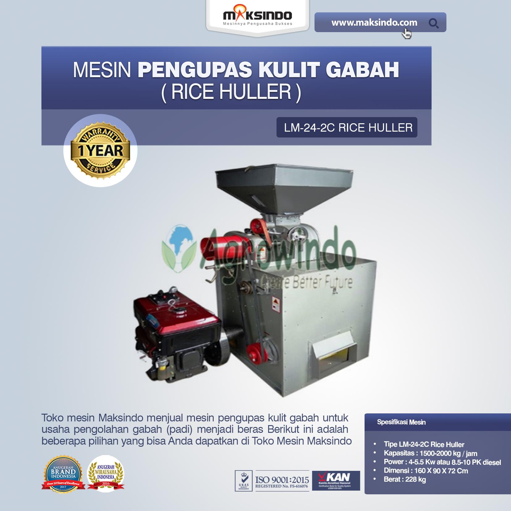 Jual Mesin Pengupas Kulit Gabah (rice huller) di Tangerang