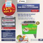 Jaul Mesin Egg Roll Gas 6 Lubang GRILLO-GS6 di Tangerang