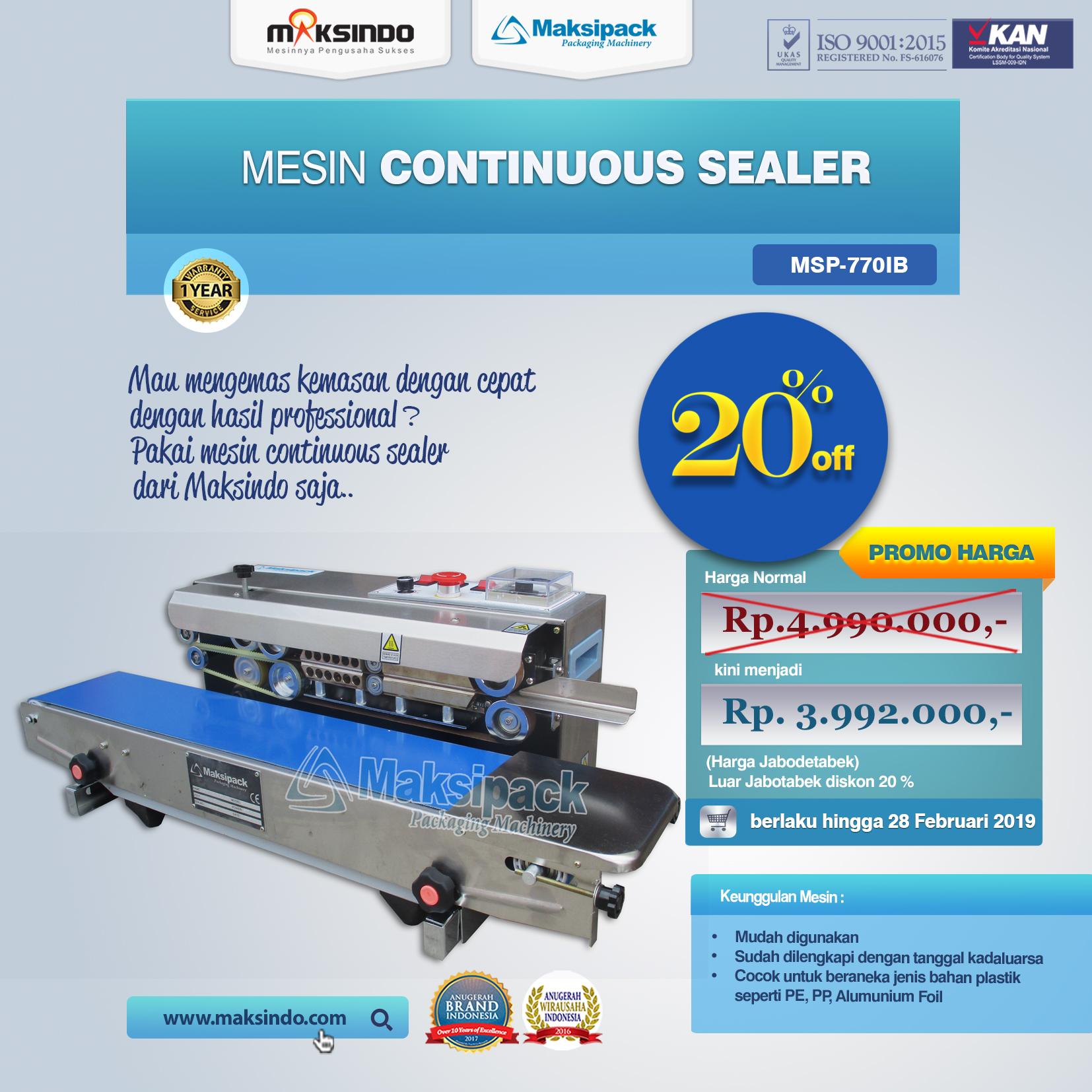 MSP-770IB Mesin Continuous Sealer