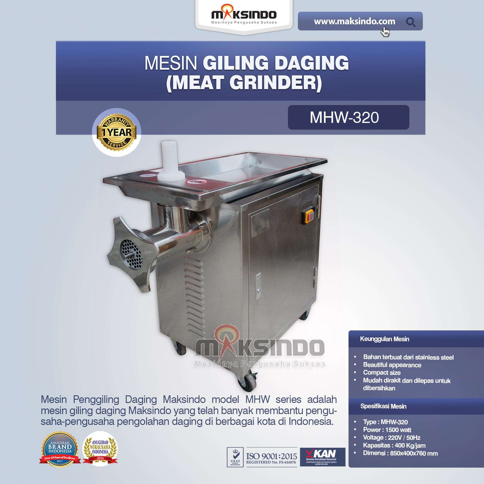 Mesin Giling Daging Meat Grinder MHW-320