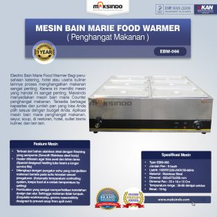 Jual Mesin Bain Marie Penghangat Makanan (EBM Type) di Tangerang