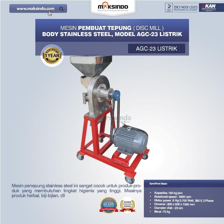Mesin Penepung Disk Mill Body Stainless Steel AGC 23