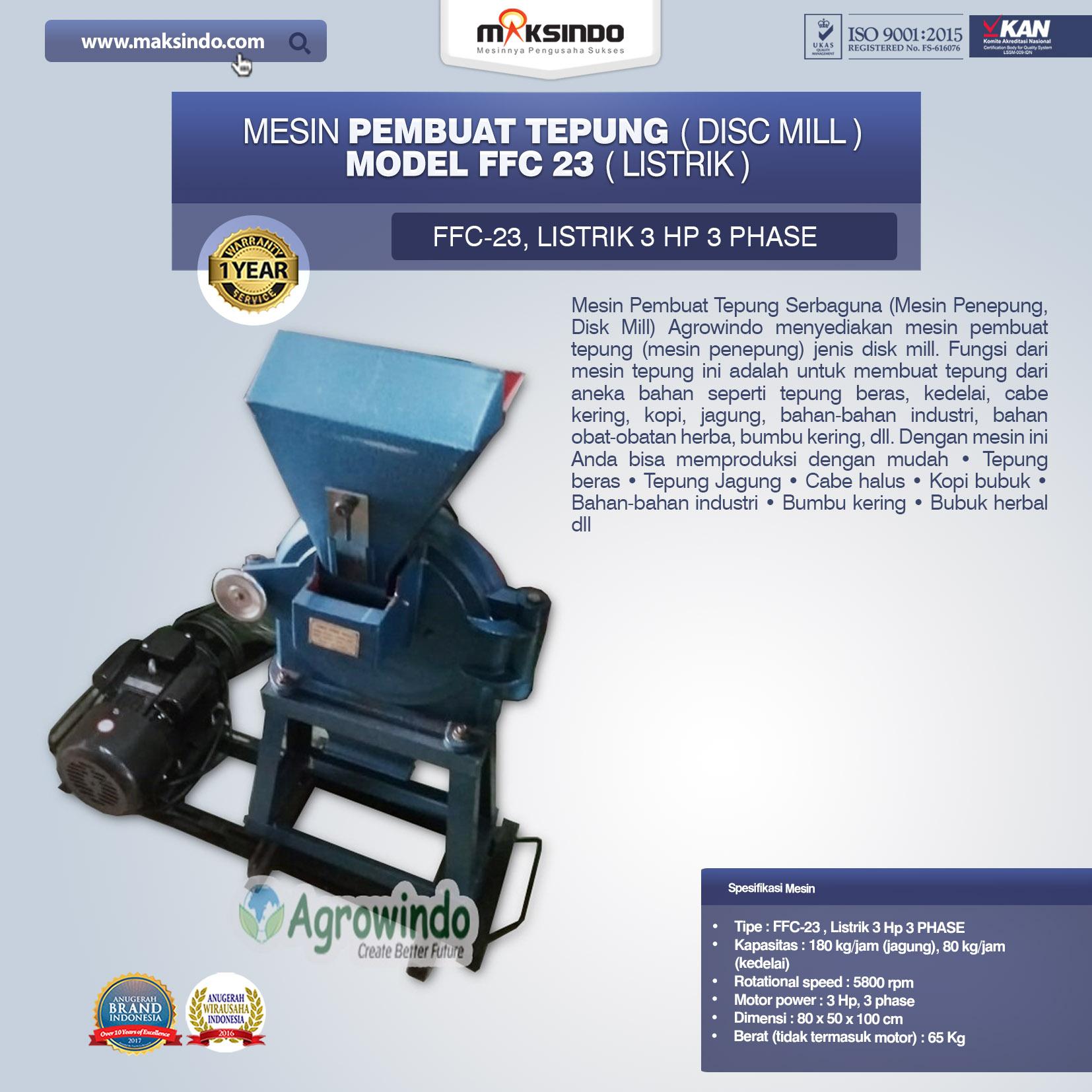 Mesin Penepung Model FFC 23 Listrik
