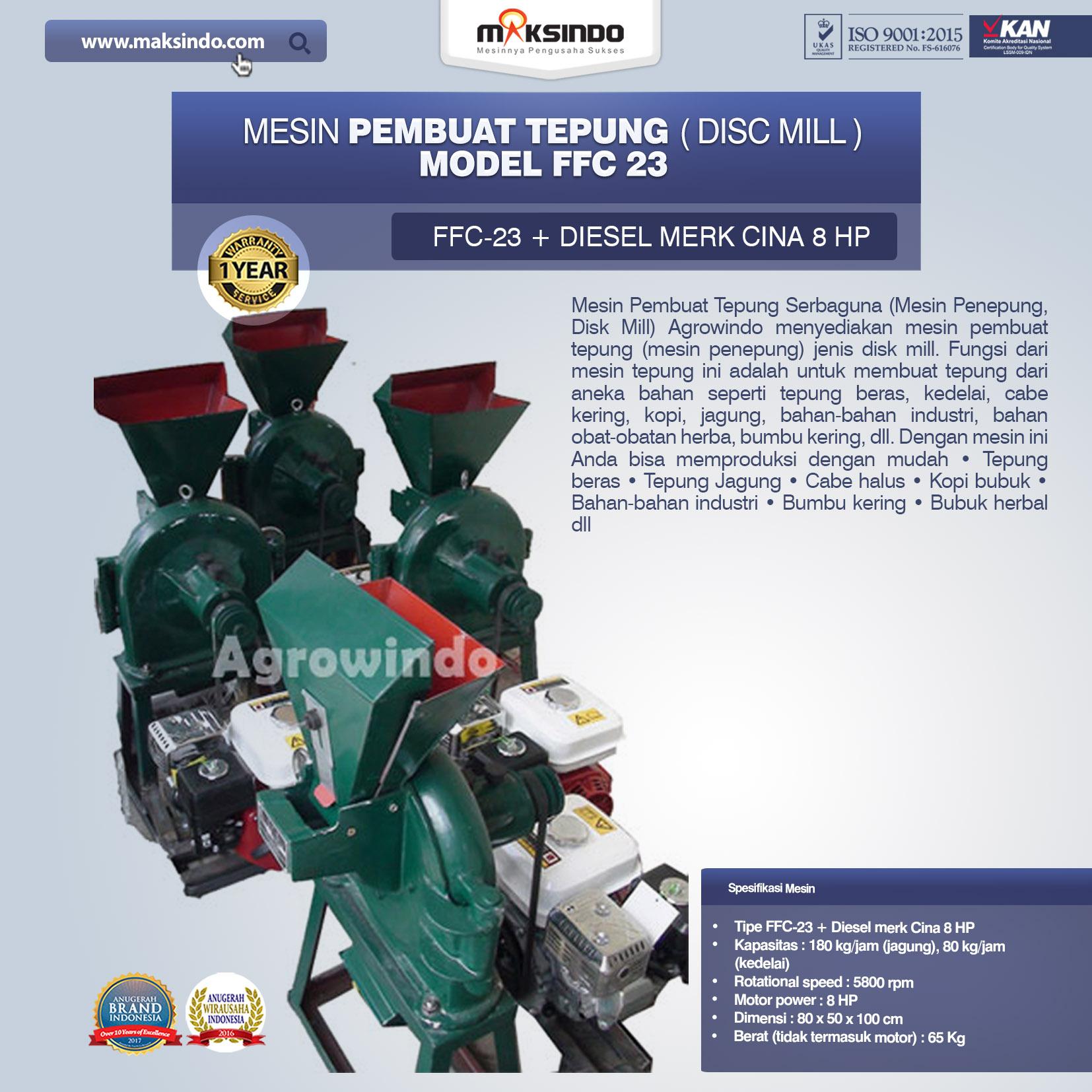 Mesin Penepung Model FFC 23