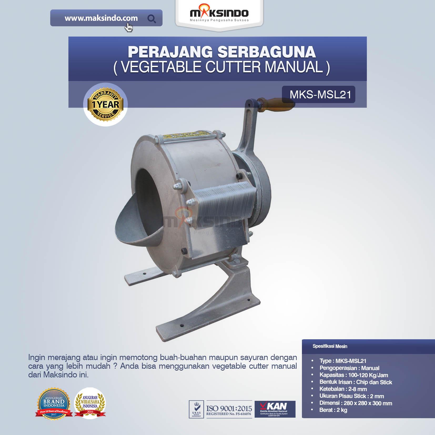 Perajang Serbaguna Vegetable Cutter Manual MKS-MSL21