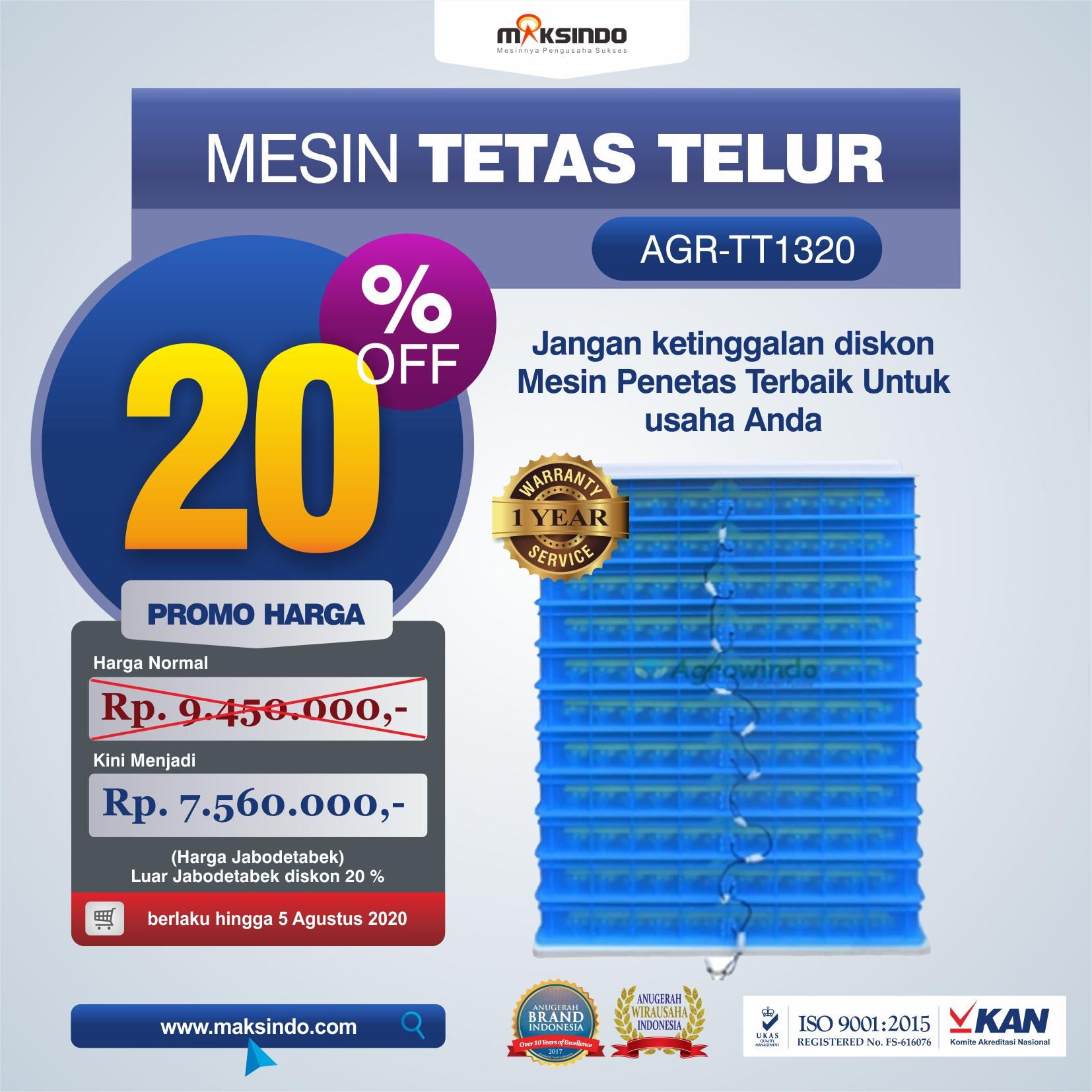 AGR-TT1320 MESIN TETAS TELUR