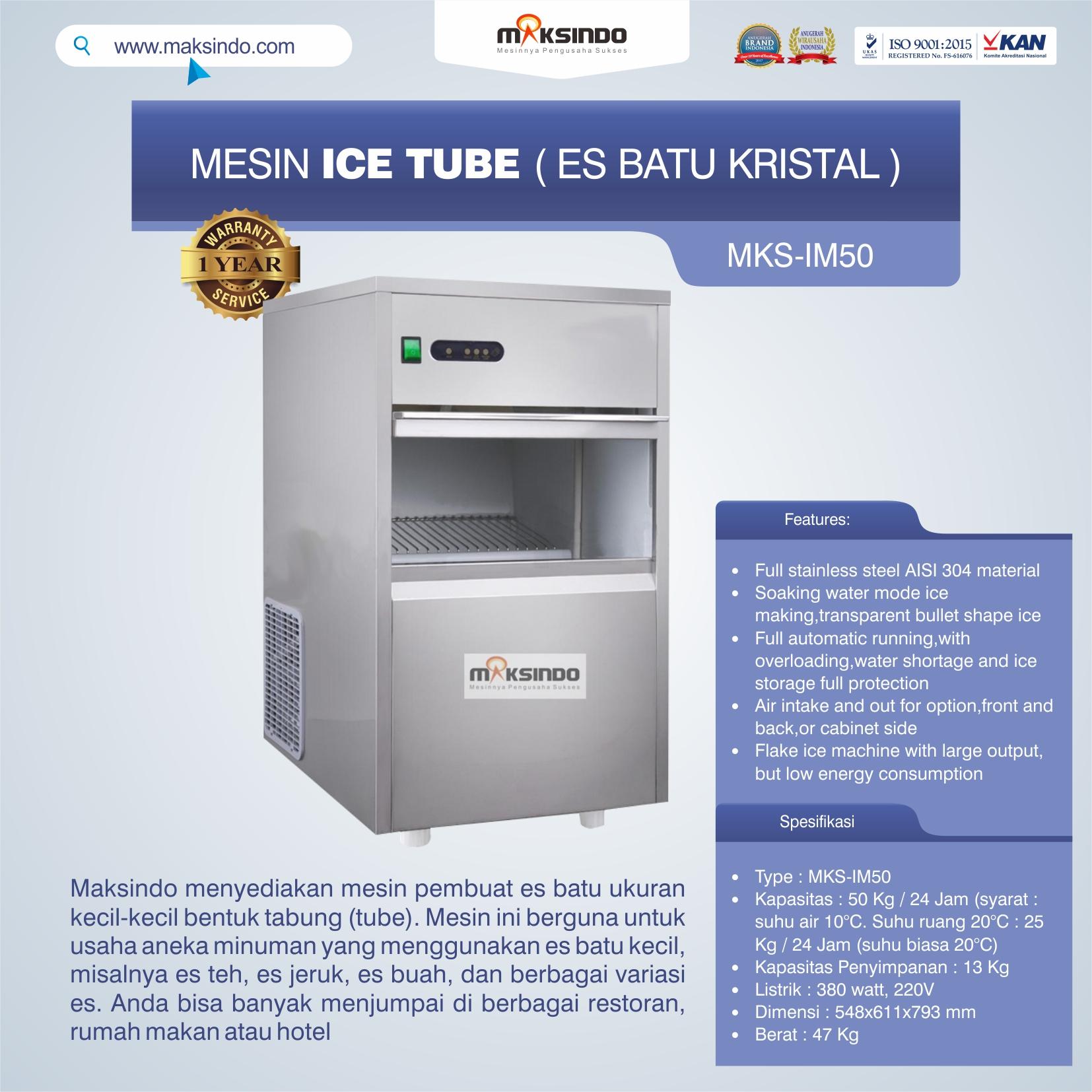 MKS-IM50 Mesin Ice Tube (Es Batu Kristal)