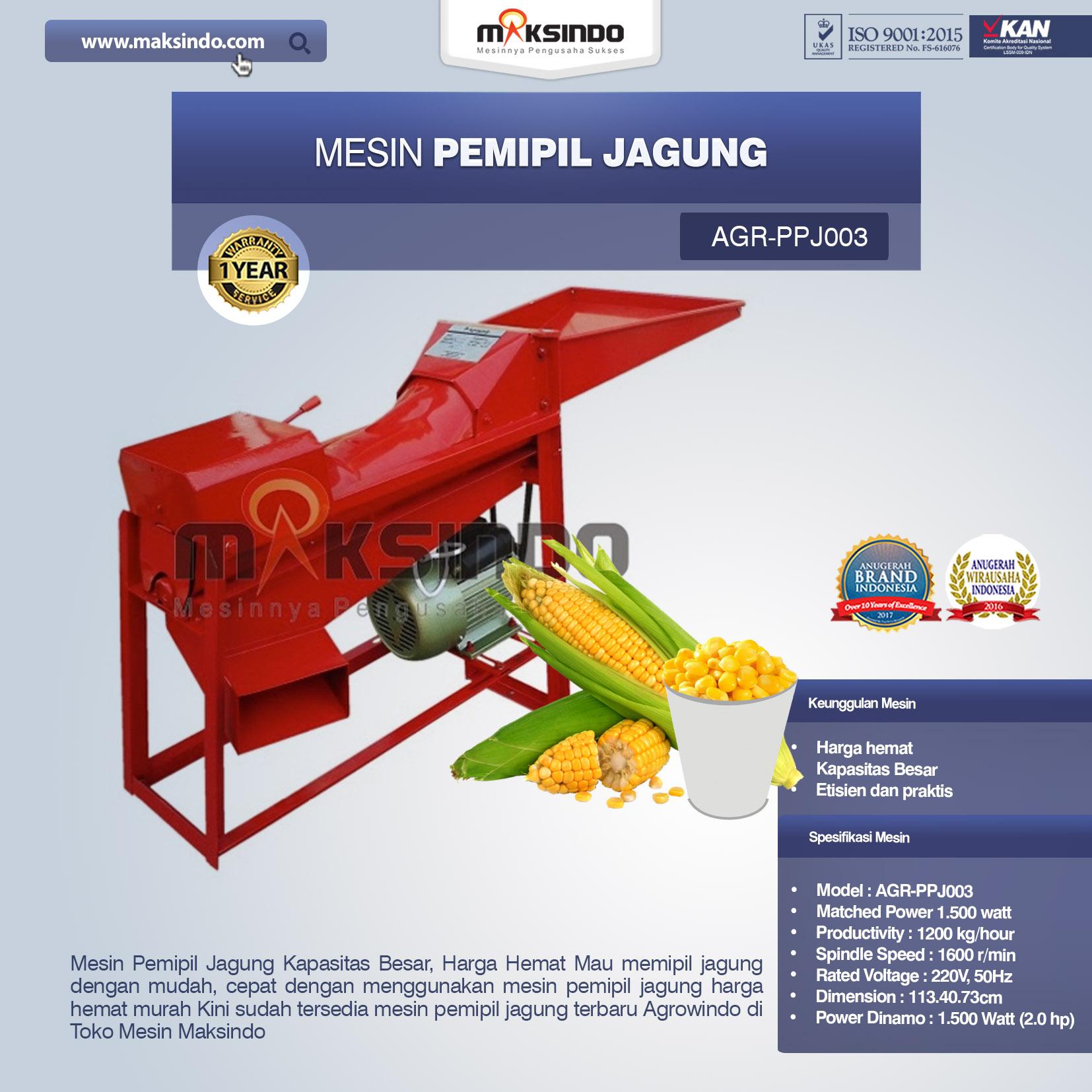Mesin Pemipil Jagung PPJ003