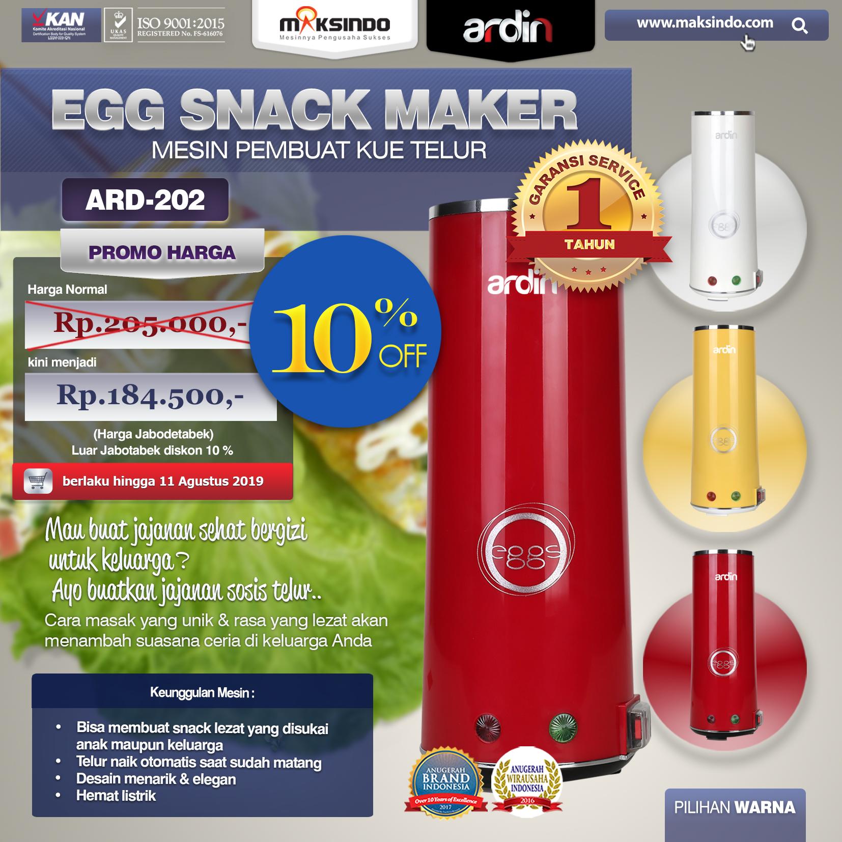 ARD-202 Egg Roll Maker Promo