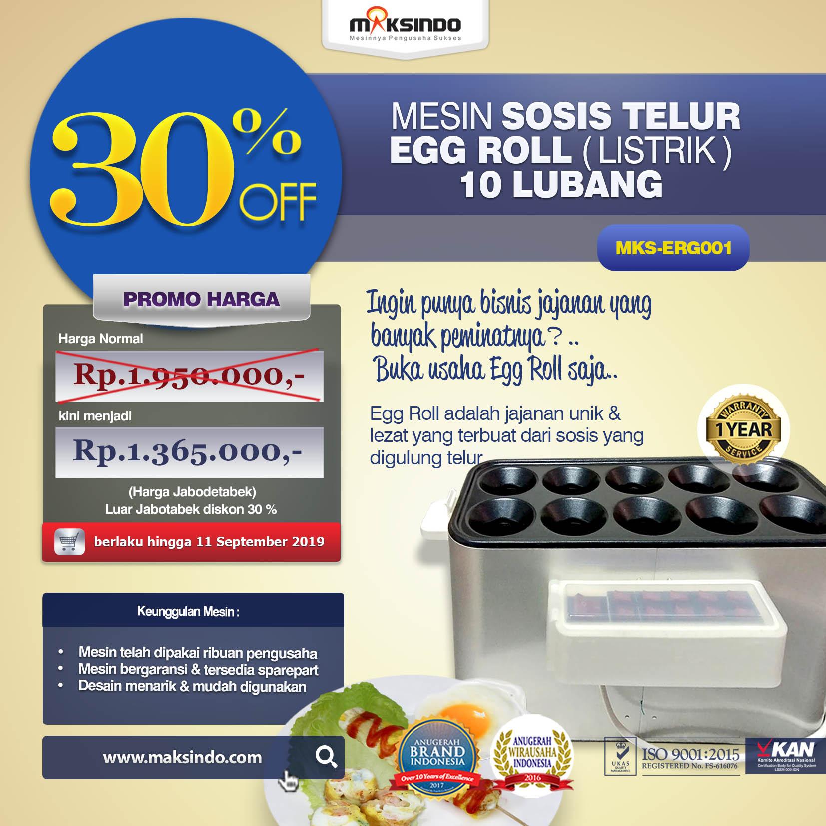 MKS-ERG001 Mesin Pembuat Egg Roll (Listrik)