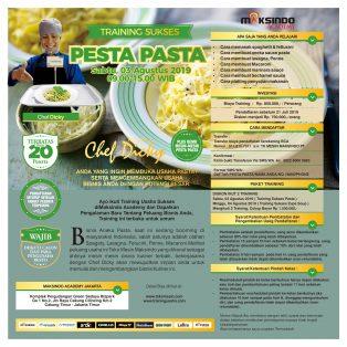 Training Sukses Pesta Pasta, 03 Agustus 2019
