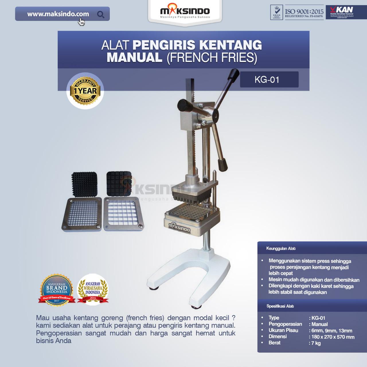 Jual Alat Pengiris Kentang Manual (french fries) di Tangerang