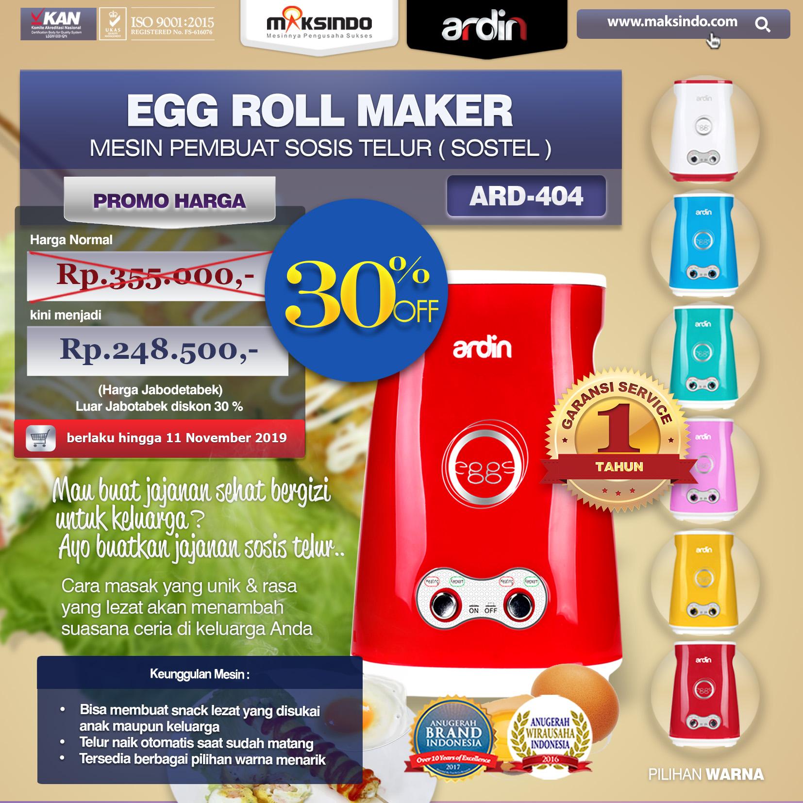 ARD-404 Egg Roll Maker promo
