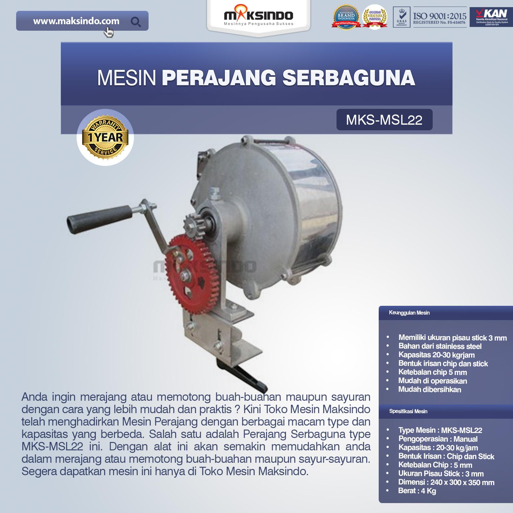 Jual Perajang Serbaguna MKS-MSL22 di Tangerang