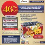 Jual Mesin Egg Roll Gas 2in1 Plus Fryer ERG007 di Tangerang