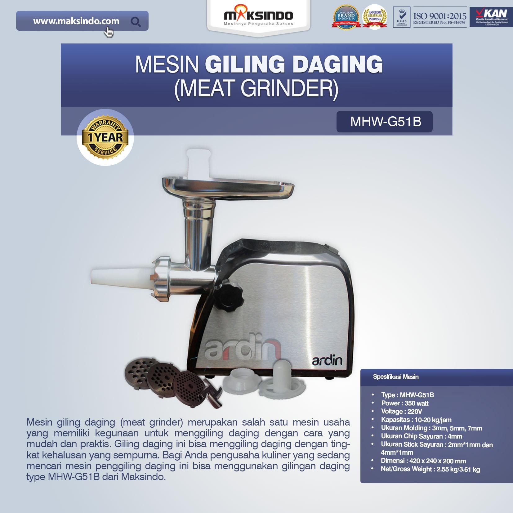 Jual Mesin Giling Daging (Meat Grinder) MHW-G51B di Tangerang