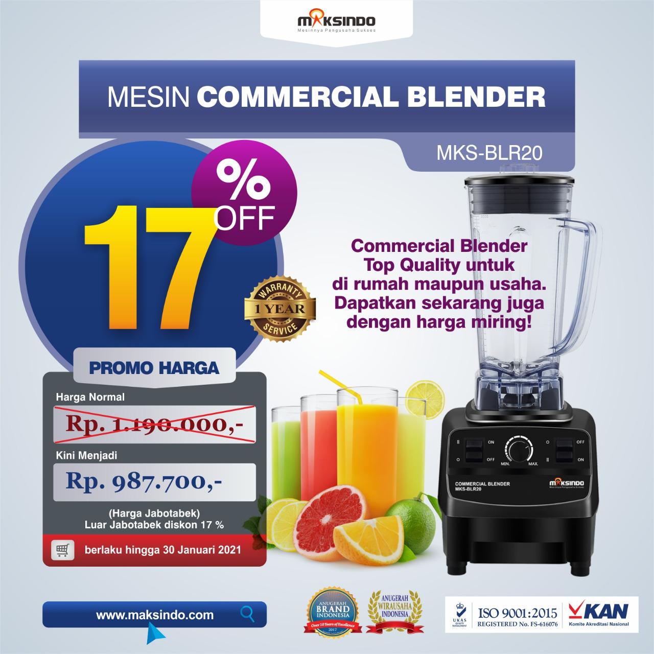 Jual Commercial BlenderMKS-BLR20 di Tangerang