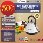 Jual Teko Listrik Stainless (Electrik Kettel) ARD-KT12 di Tangerang