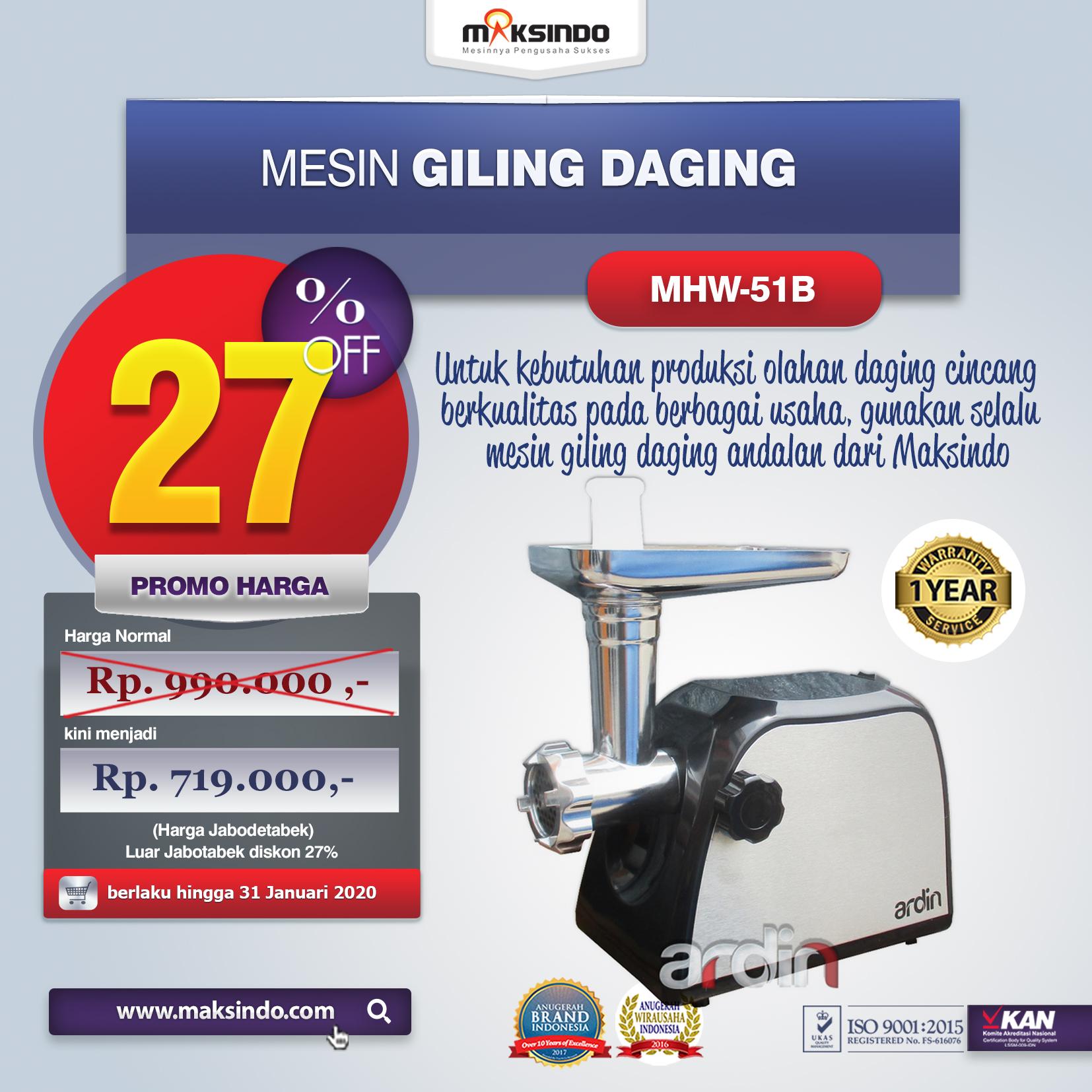 MHW G51B Mesin GILING DAGING