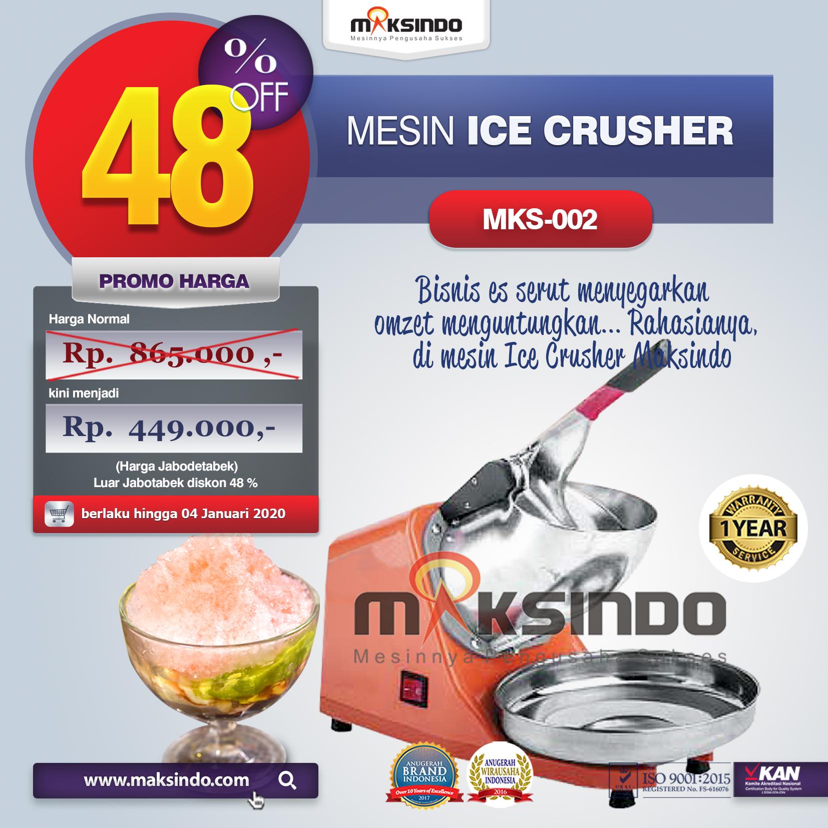 MKS 002 mesin ice crusher