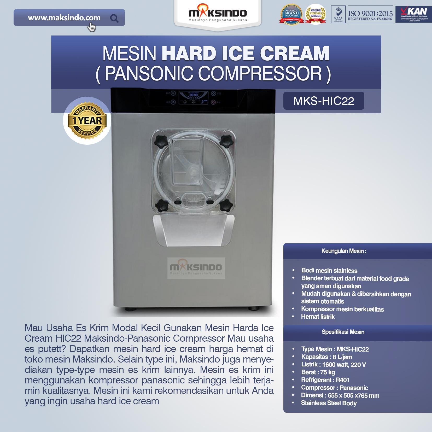 Mesin-Hard-Ice-Cream-MKS-HIC22