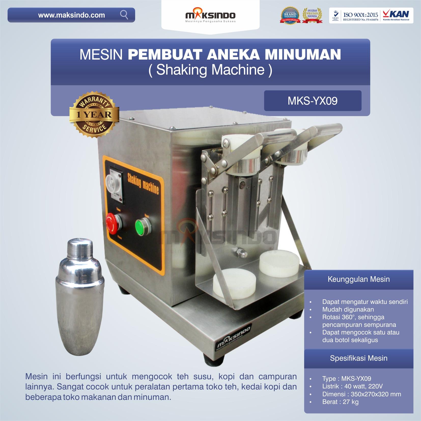 Jual Mesin Pembuat Aneka Minuman (Shaking Machine) MKS-YX09 di Tangerang