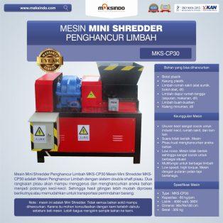 Jual Mesin Mini Shredder Penghancur Limbah MKS-CP30 di Tangerang