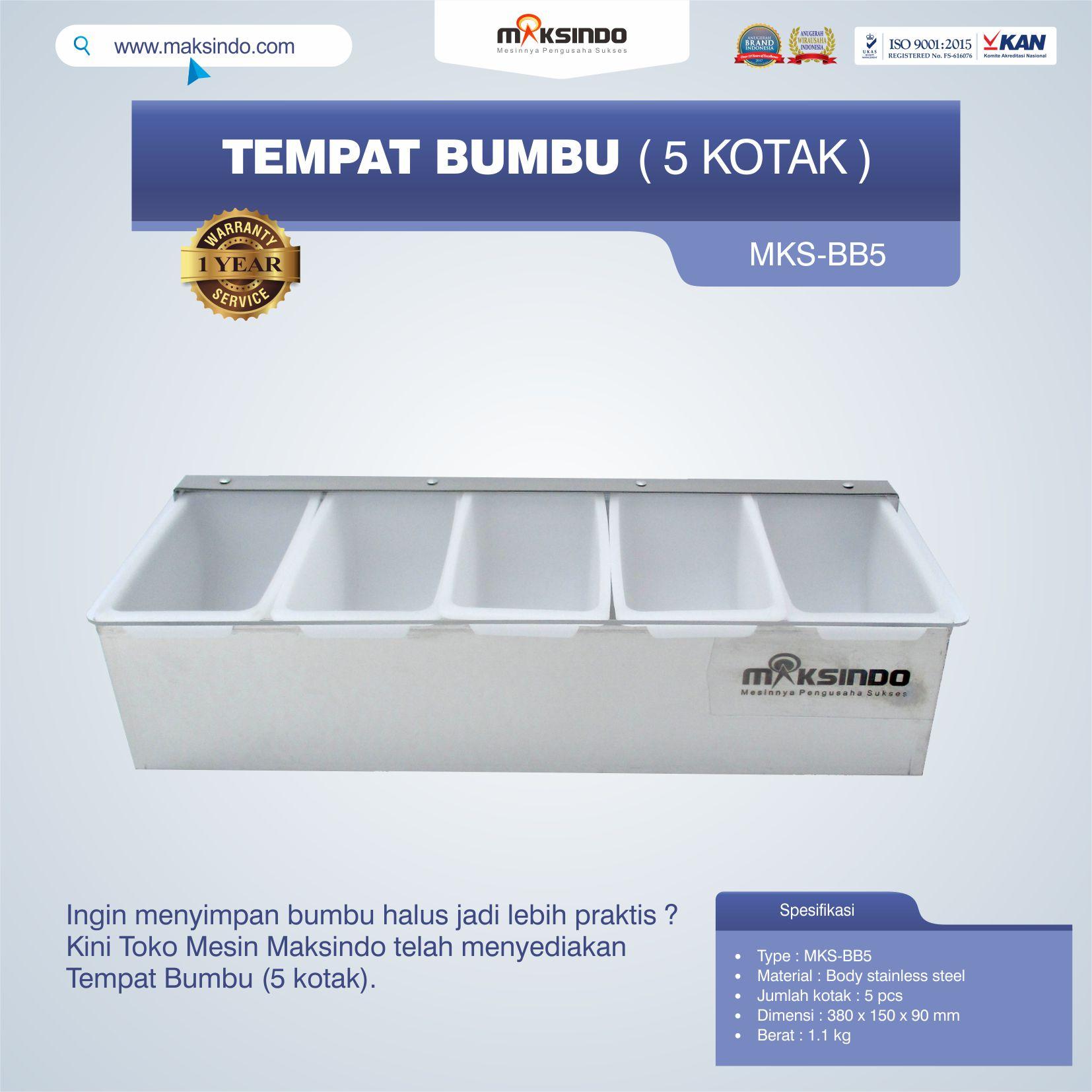 Jual Tempat Bumbu (5 Kotak) di Tangerang