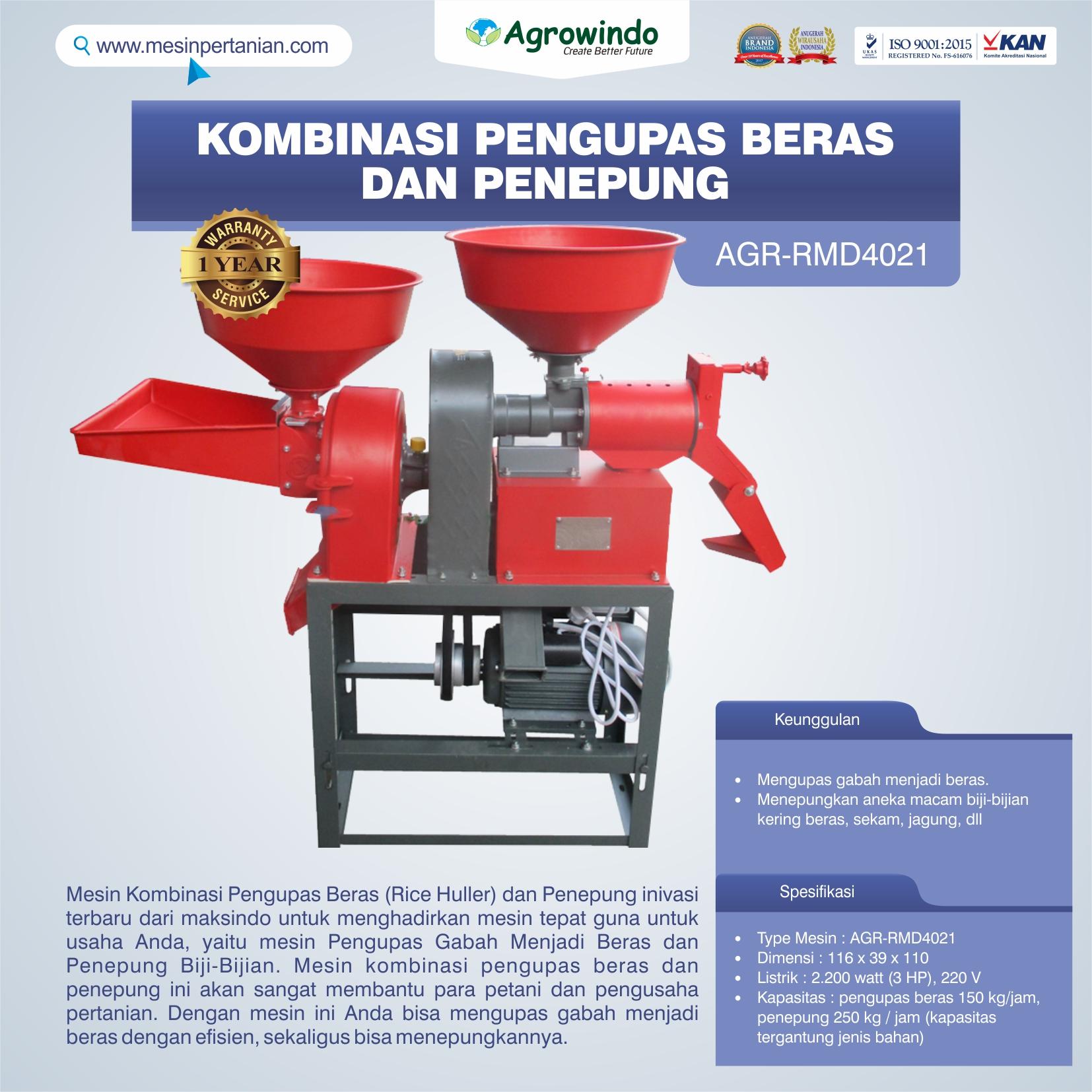 Jual Kombinasi Pengupas Beras dan Penepung RMD4021 di Tangerang