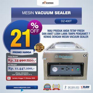 Jual Mesin Vacuum Sealer Singgle Seal (DZ400T) di Tangerang