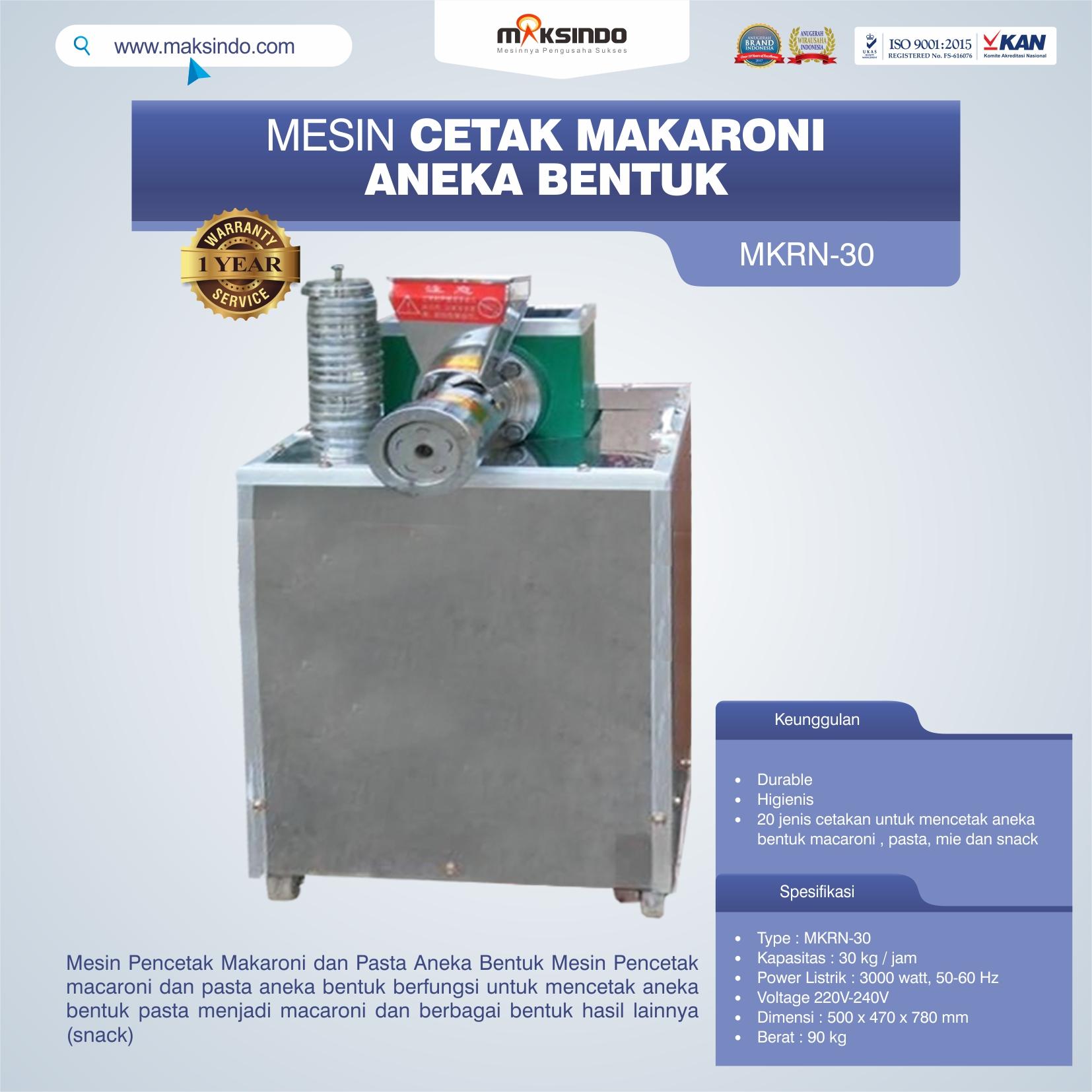 Jual Mesin Cetak Makaroni Aneka Bentuk di Tangerang