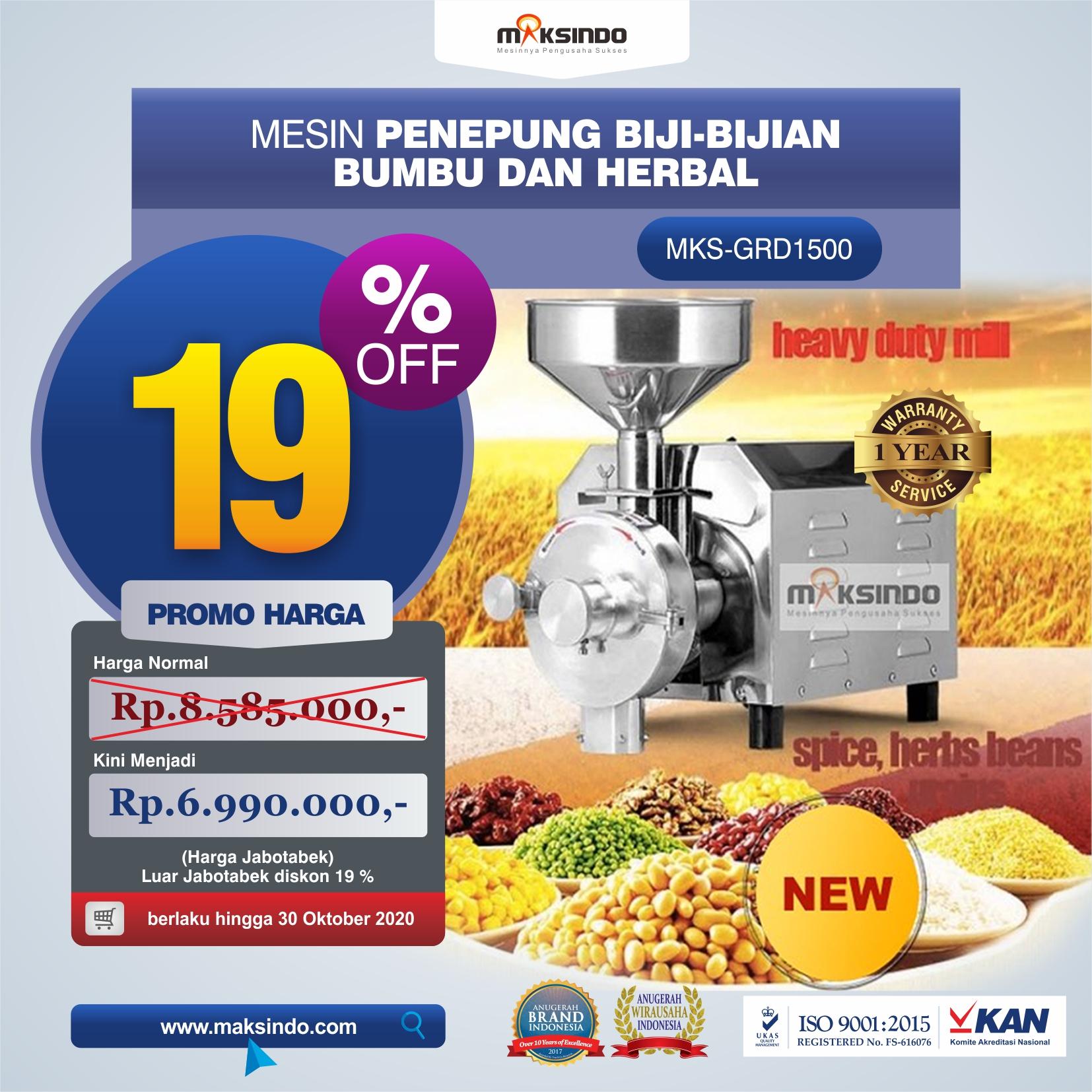 Jual Penepung Biji, Bumbu dan Herbal (GRD1500) di Tangerang
