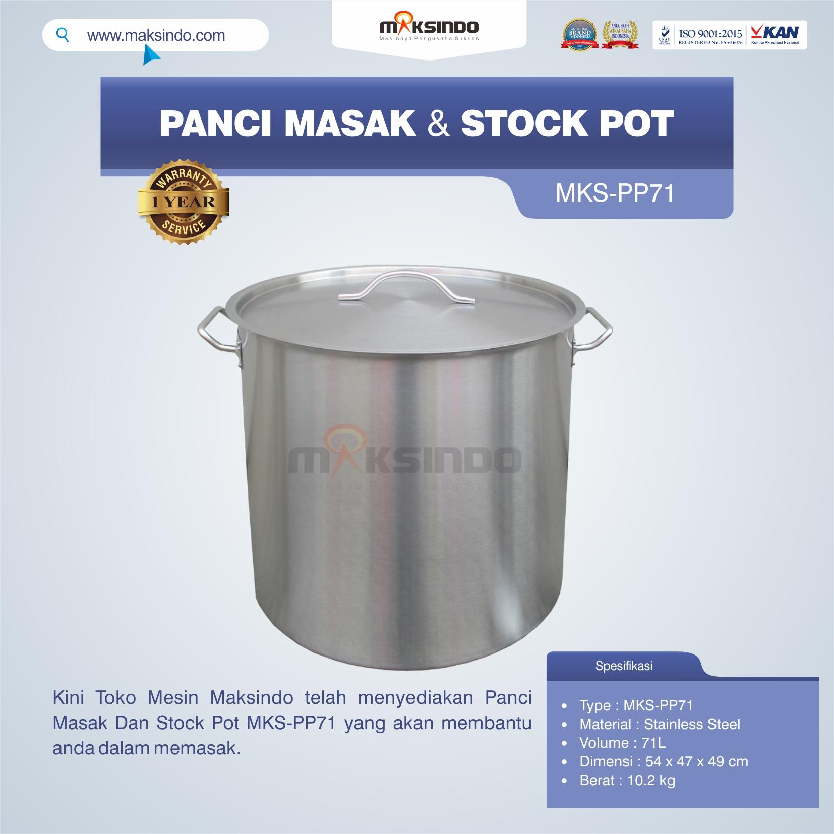 Jual Panci Masak Dan Stock Pot MKS-PP71 di Tangerang