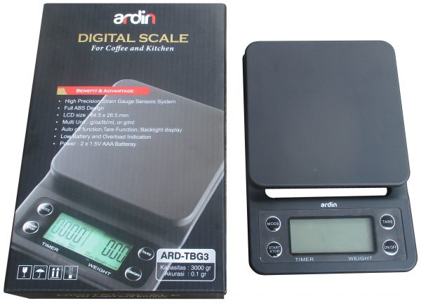 Timbangan Digital 3 kg Timbangan Kopi ARD-TBG3-2