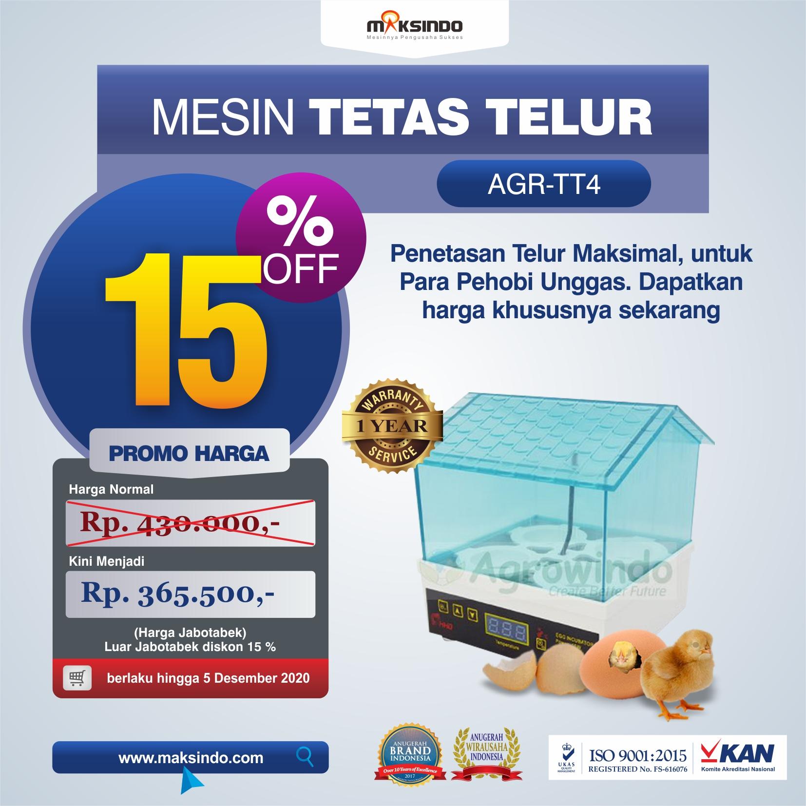 Jual Tetas Telur Mini 4 Butir (AGR-TT4) di Tangerang