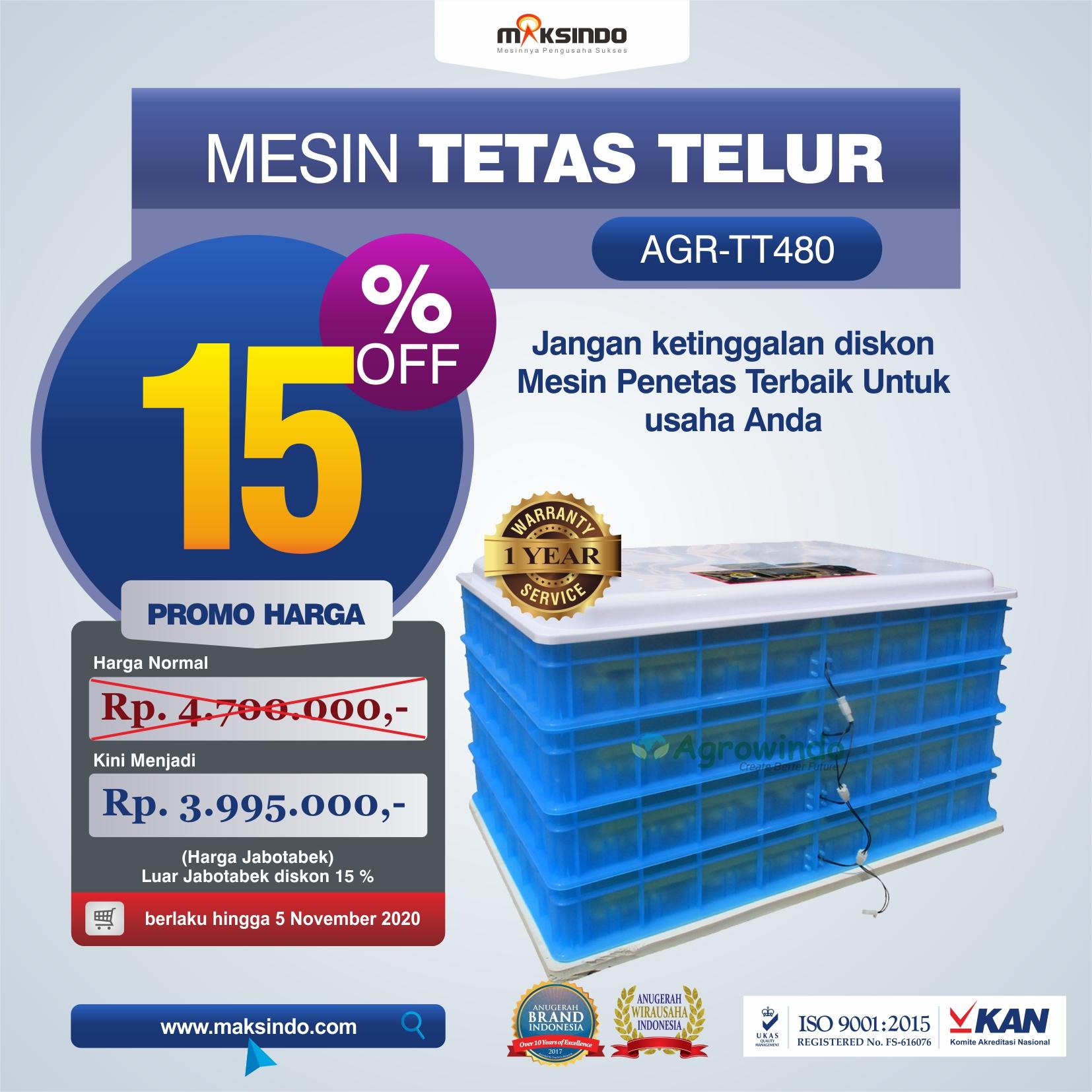 Jual Mesin Penetas Telur AGR-TT480 di Tangerang