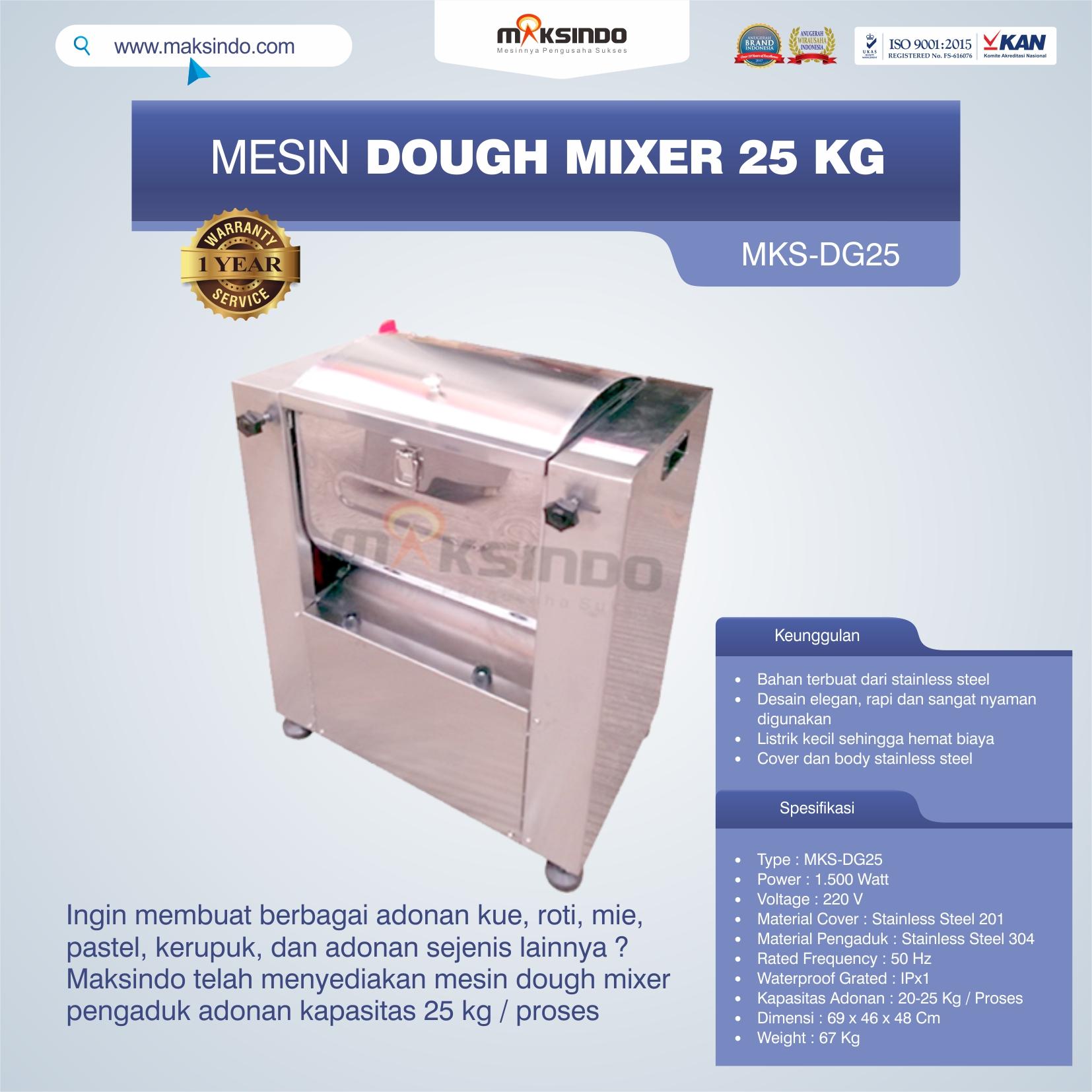 Jual Mesin Dough Mixer 25 kg (MKS-DG25) di Tangerang