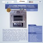 Jual Mesin Oven Pengering Serbaguna (Stainless – Gas) Di Tangerang