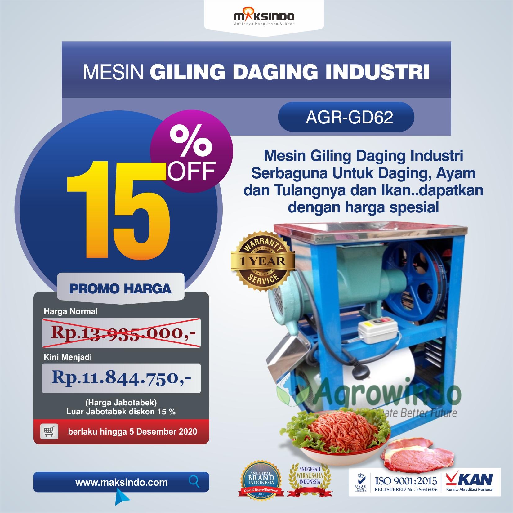 Jual Mesin Giling Daging Industri (AGR-GD62) di Tangerang