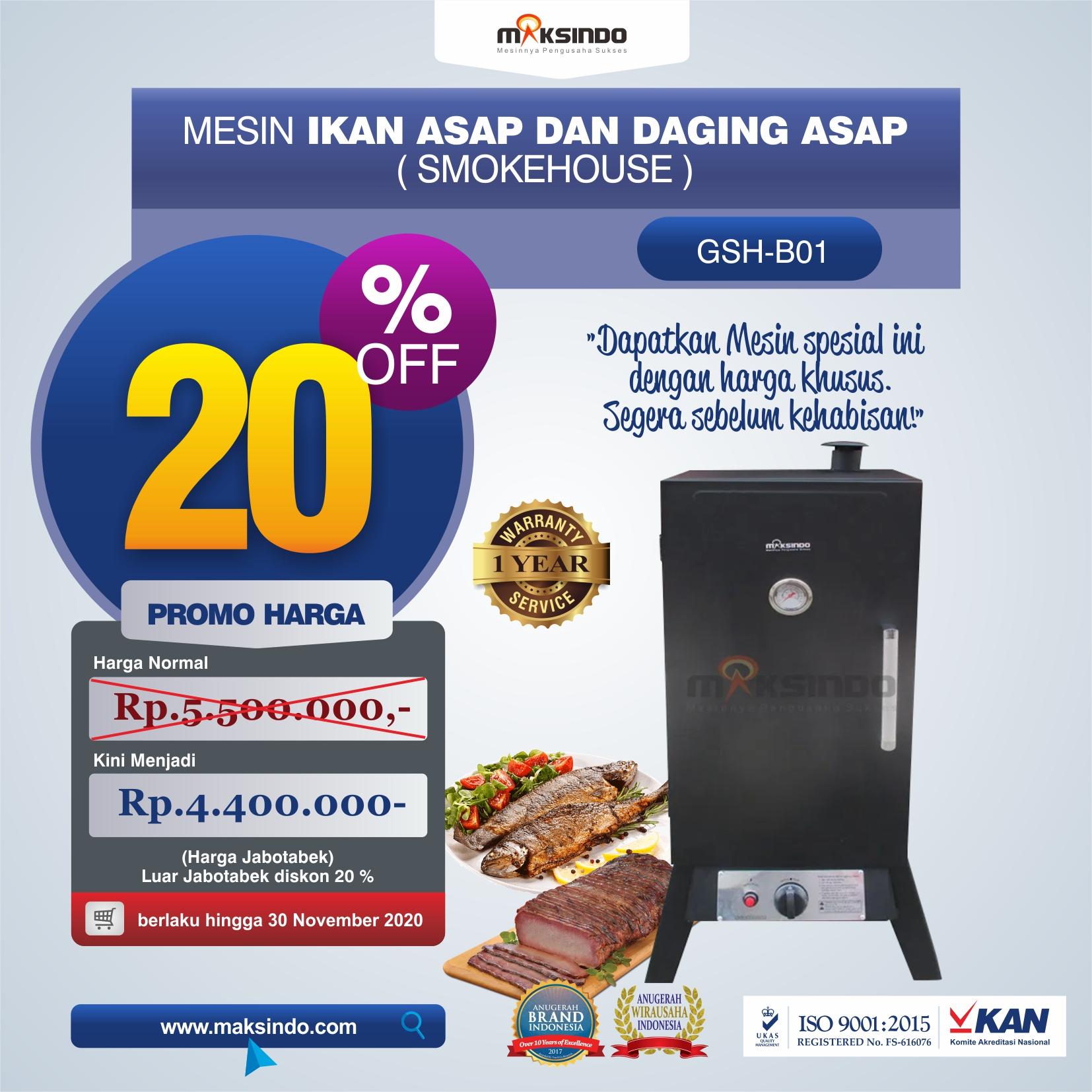 Jual Mesin Ikan Asap dan Daging Asap (Smokehouse) GSH-B01 Di Tangerang