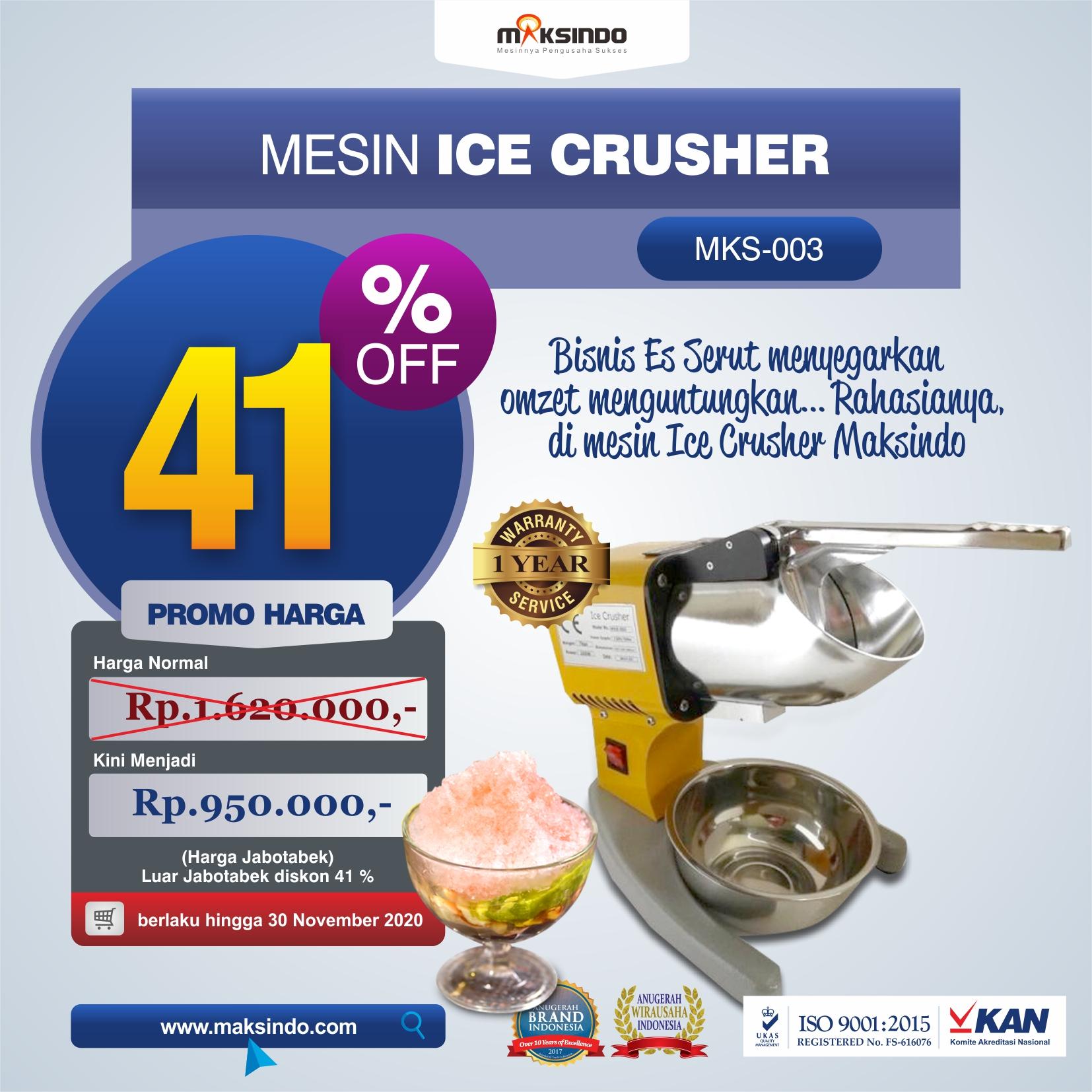 Jual Mesin Es Serut (Ice Crusher MKS-003) di Tangerang