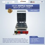 Jual Mesin Waffle Maker Bentuk Hati (Love) MKS-GNG4 di Tangerang