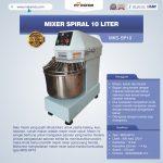 Jual Mixer Spiral 10 Liter (MKS-SP10) di Tangerang
