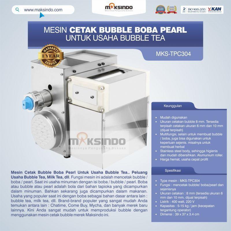Jual Mesin Cetak Bubble Boba Pearl Untuk Usaha Bubble Tea di Tangerang