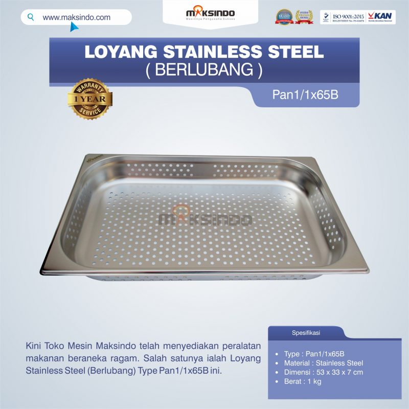 Loyang Stainless Steel (Berlubang) Type Pan1/1x65B